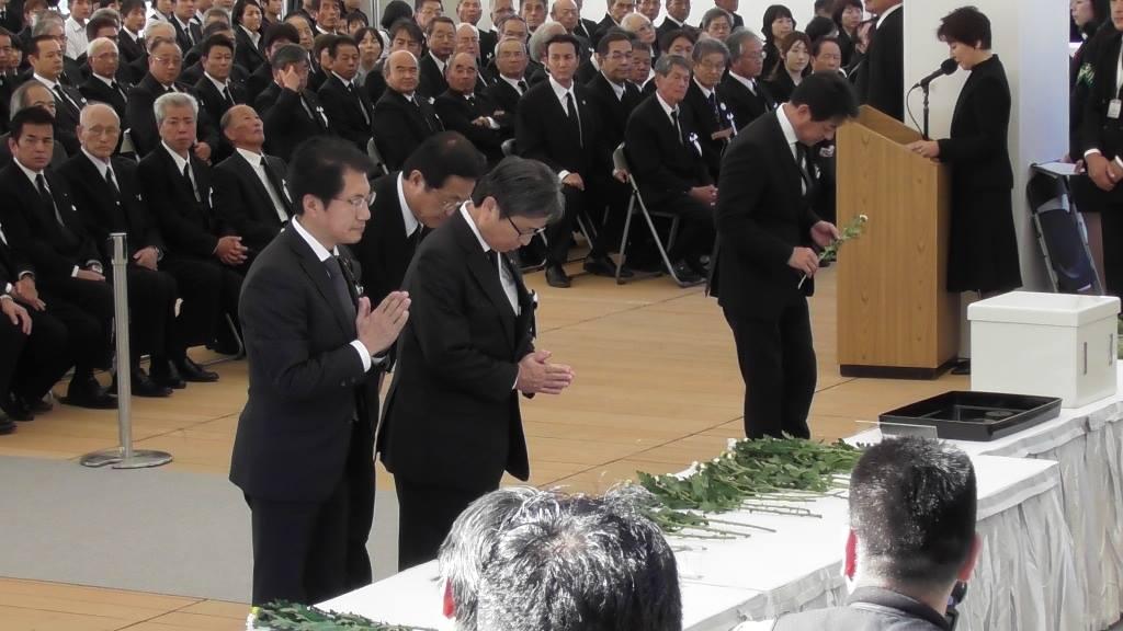 水俣病の犠牲者を追悼する「水俣病犠牲者慰霊式」=29日、熊本県水俣市