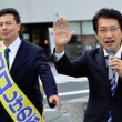出口北九州市議候補と街頭宣伝