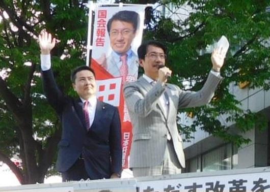 小倉北緊急街頭演説 =7日