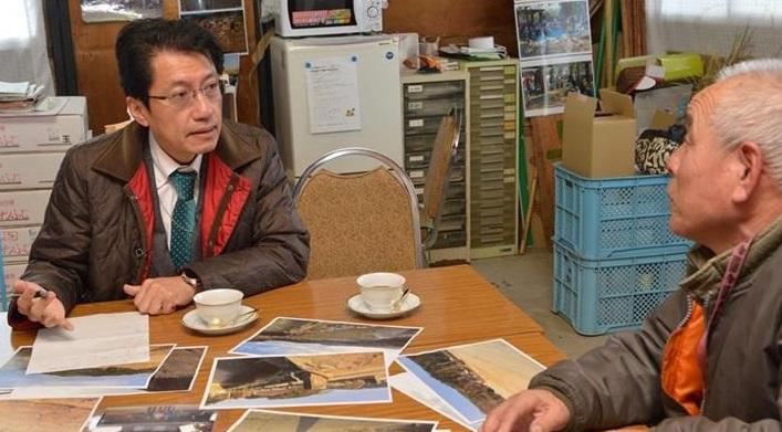朝倉市で農家から豪雨被害調査=12日