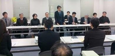 立野ダム建設問題で九州地方整備局に申し入れ=12日