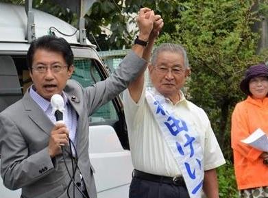 宇土市議選出発式=7日