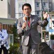 しげまつ熊本市長候補の出発式=4日