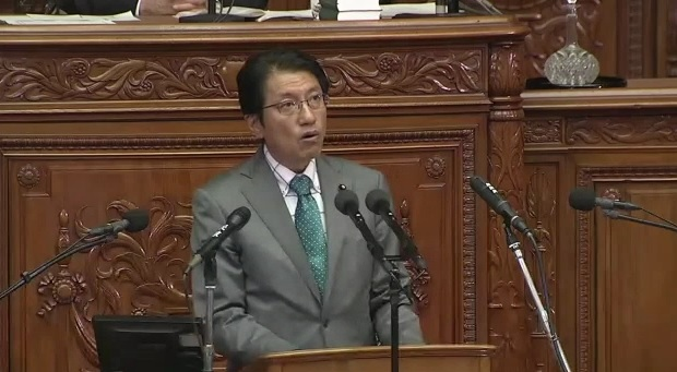 田村衆院議員=25日 本会議