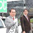 豊前市議選出発式=22日
