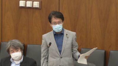 田村議員が質問=6月9日、農水委
